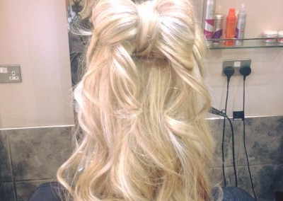 Creamy blonde curls