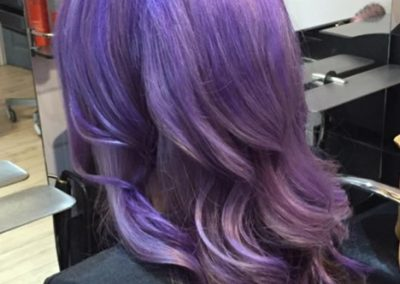 Gentle lightened, then violet-colo
